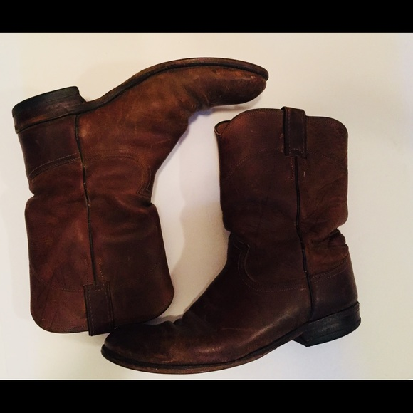 05cc852ddb621 Justin Boots Other - Justin Roper slip on cowboy boots Apache cowhide